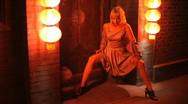 Smoking Cigarette. red light district series Stock Footage