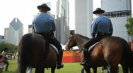 Stock Video Footage of city police officers on horse