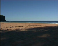 Deserted Beach, Sydney, Australia Stock Footage
