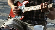 Stock Video Footage of man playing guitar