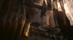 Big Buddha Sukothai tilt Stock Footage