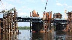 Bridge engineering Stock Footage
