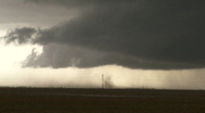 Stock Video Footage of Blowing dust under a severe thunderstorm
