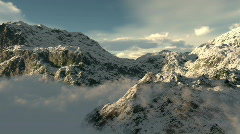 Mountains sky clouds Stock Footage