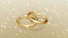 Animated Wedding Rings Background Stock Footage