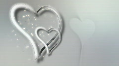 Animated Hearts Wedding Background Stock Footage