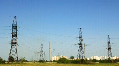 Power lines Stock Footage