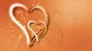 Animated Wedding Hearts Romantic Graphics Background Stock Footage