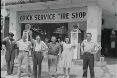 40s tire shop - stock footage