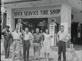 40s tire shop Stock Footage