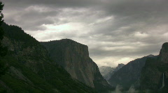 Yosemite : Tunnel View - El Capitan 2 Zoom In Stock Footage