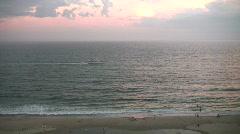 Virginia Beach Evening boat Stock Footage