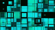 Stock Video Footage of Squares in Blue Green background (loop)