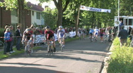 Local cycling event Stock Footage