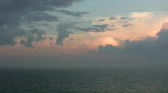 Virginia Beach eveninig sky 1 Stock Footage