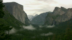 Yosemite Tunnel View Panorama Time Lapse x20 Stock Footage