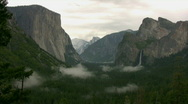 Stock Video Footage of Yosemite Tunnel View Panorama Time Lapse x20