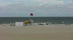 Virginia Beach windy life guard Stock Footage