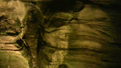 Cave interior at Howe Caverns in upstate NY Stock Footage