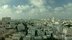Tel Aviv panorama fix 2 - stock footage