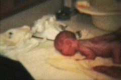 Newborn Baby (1964 - Vintage 8mm film footage) Stock Footage