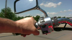 Hand View while riding Motorcycle Stock Footage