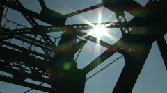 Lens Flare over Bridge - stock footage