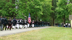Union infantry column marching to battle 645-1 Stock Footage