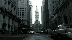 Broad Street Philadelphia Stock Footage
