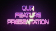 Stock Video Footage of Our Feature Presentation (Retro Logo)