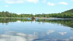 Kayaking on a Lake in the Summer Stock Footage