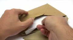Receiving a Letter Stock Footage
