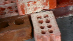 dolly bricks building material - stock footage