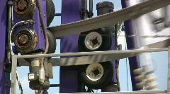 Ferris Wheel Powering Mechanics Detail Stock Footage