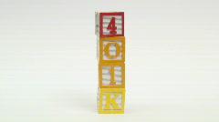 Wooden building blocks 401K - HD  Stock Footage