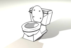 SD toilet Stock Footage