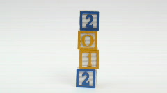 Wooden building blocks 2012 - HD  Stock Footage