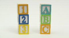 Wooden building blocks ABC - HD  - stock footage