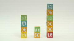 Wooden building blocks BACK TO SCHOOL - HD  Stock Footage