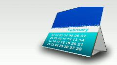 Calendar showing months - stock footage