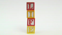 Wooden building blocks LIFE - HD  Stock Footage