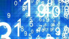Numbers arranged randomly Stock Footage