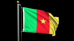 Isolated Cameroon Stock Footage