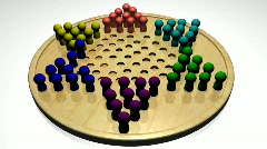 Chinese Checkers Stock Footage