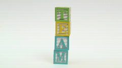 Wooden building blocks TEAM - HD  Stock Footage