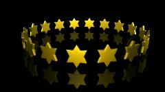 Stars turning Stock Footage