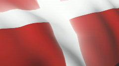 Danish flag Stock Footage