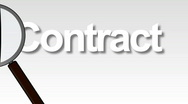 Magnifing Glass over a contract Stock Footage