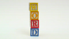 Wooden building blocks WORD - HD  Stock Footage