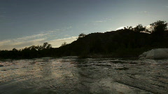 River_at_dusk Stock Footage